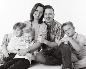 Black & white family photography shoot merseyside