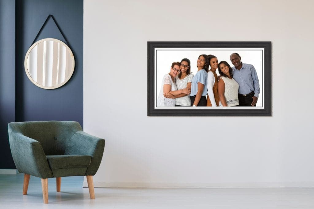 first family photoshoot framed family photo wirral offley photography