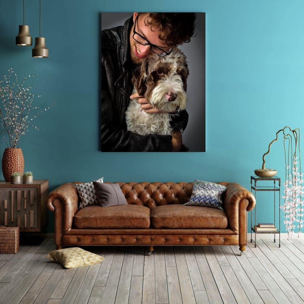 canvas wall art dog photography wirral offley photography
