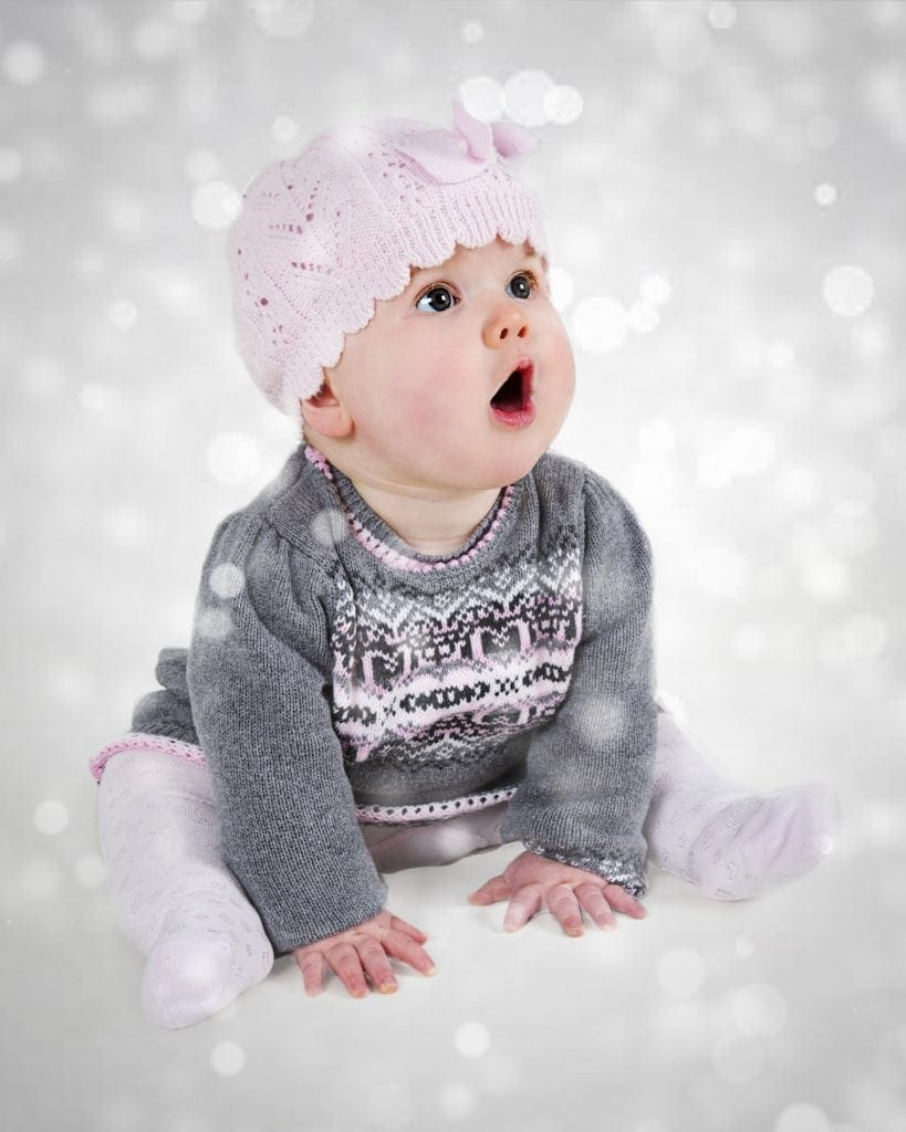 babys first Christmas photo shoot offley photography