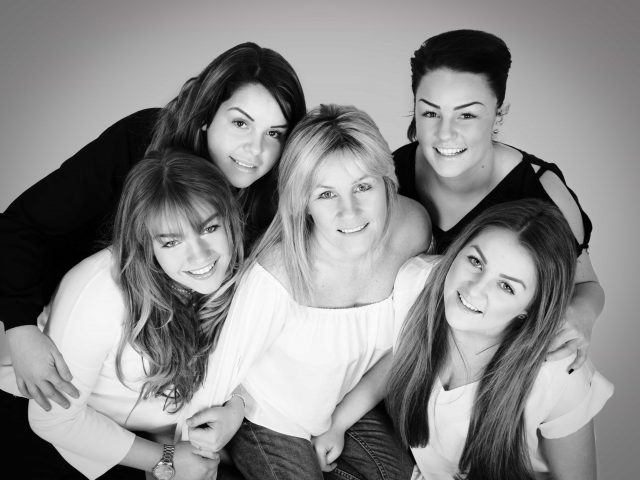 mum with grown up daughters portrait